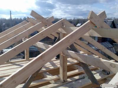 Строительство бани как сделать крышу